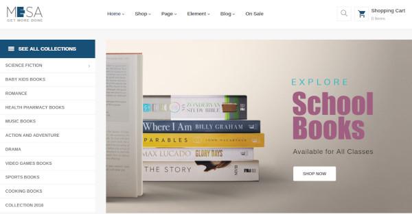 mesa – seo friendly wordpress theme