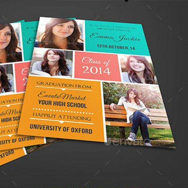 metro theme graduation announcement example