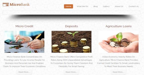 microbank – custom wordpress theme