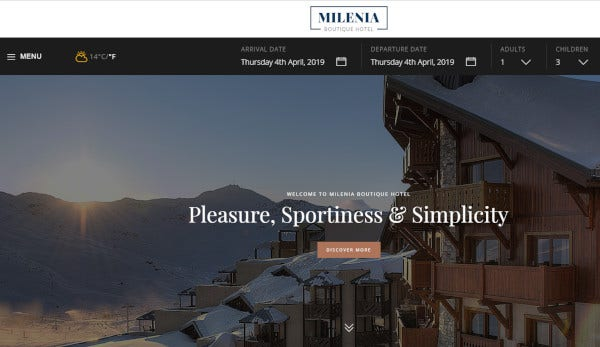 milenia html5 and css3 wordpress theme