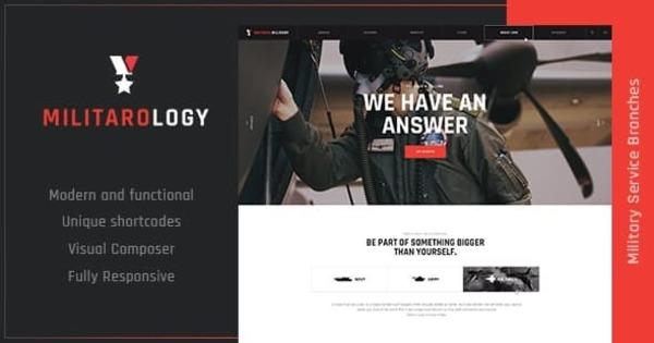Militarology – ThemeREX WordPress Theme