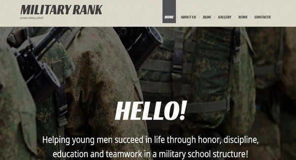 Military School – Shortcodes WordPress Theme