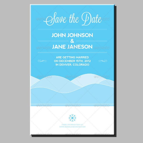 minimal wedding announcement card design