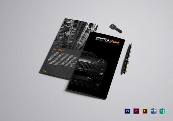 modern car rental brochure template