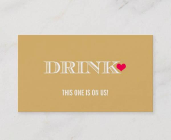 modern drink ticket template
