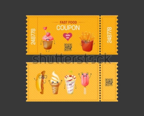 modern food ticket design