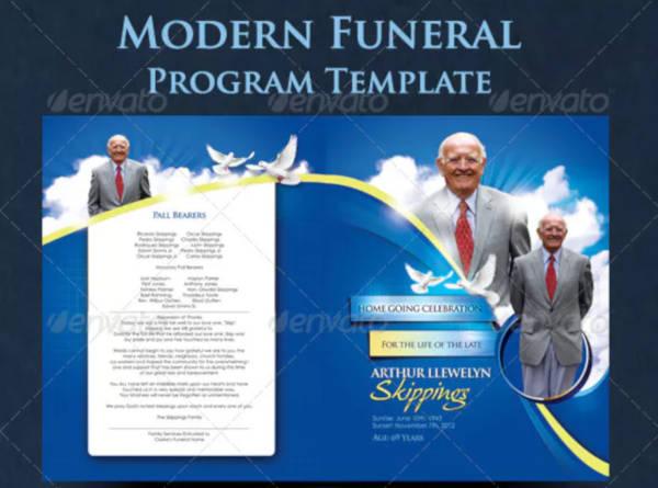 Modern Funeral Program