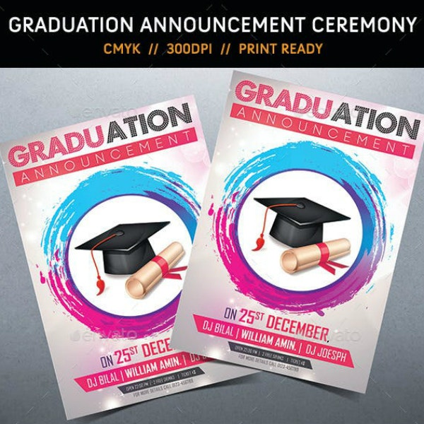Modern Graduation Ceremony Announcement Sample