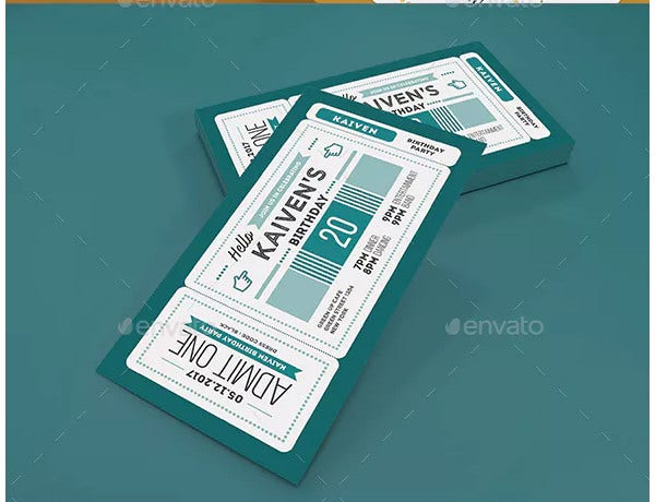 modern invitation ticket template
