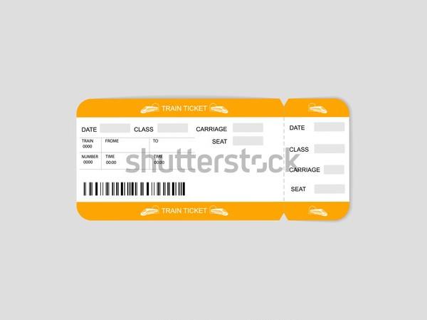modern train ticket template
