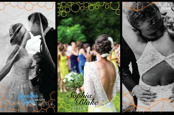 modern wedding snapchat geofilters template