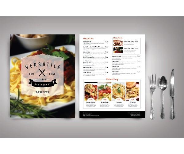 modren catering service menu