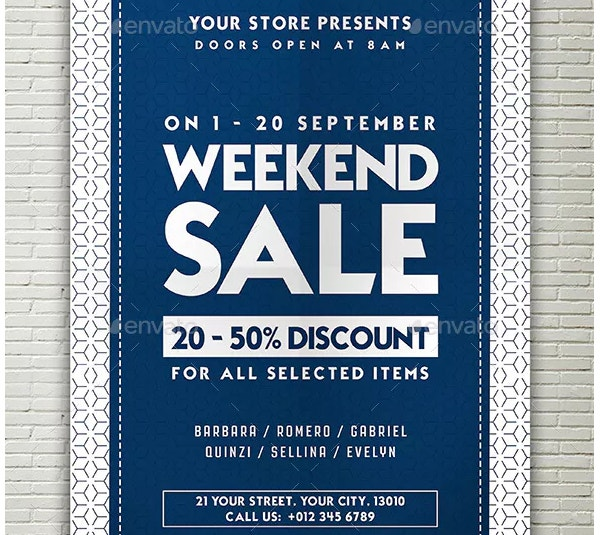 modren sale flyer template