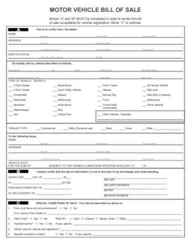 motor-vehicle-bill-of-sale-sample
