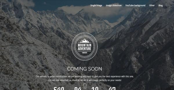 Mountain - Retina Ready WordPress Theme