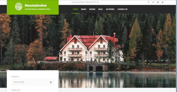 Mountainview - Rental WordPress Theme