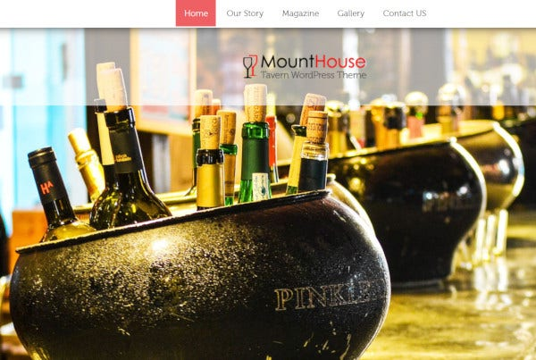 mounthouse retina ready wordpress theme
