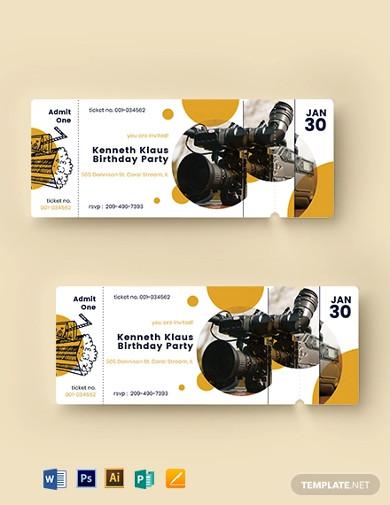 movie-birthday-ticket-template