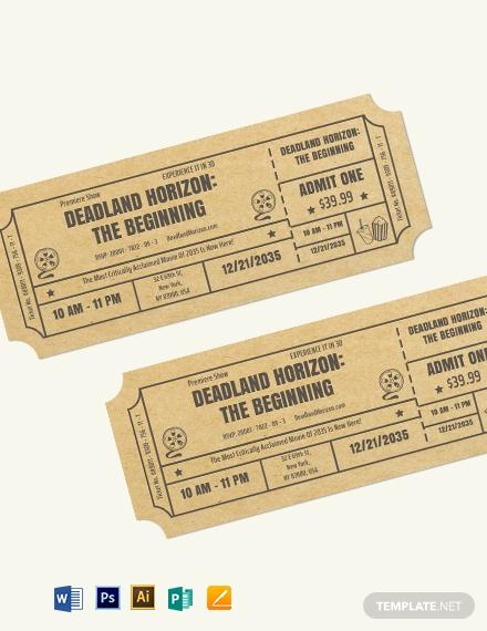 movie festival event ticket example