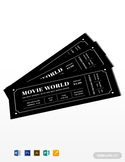 movie night admission ticket invitation template