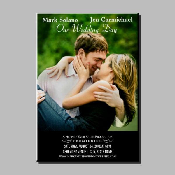 movie wedding invitation poster sample