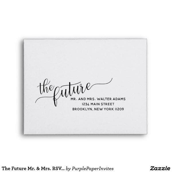 mr mrs wedding rsvp envelope template