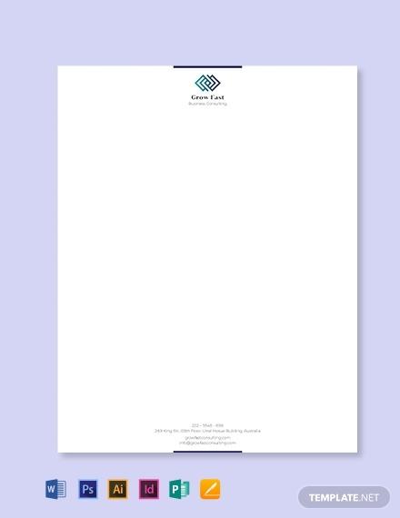 multipurpose cleaning business letterhead sample