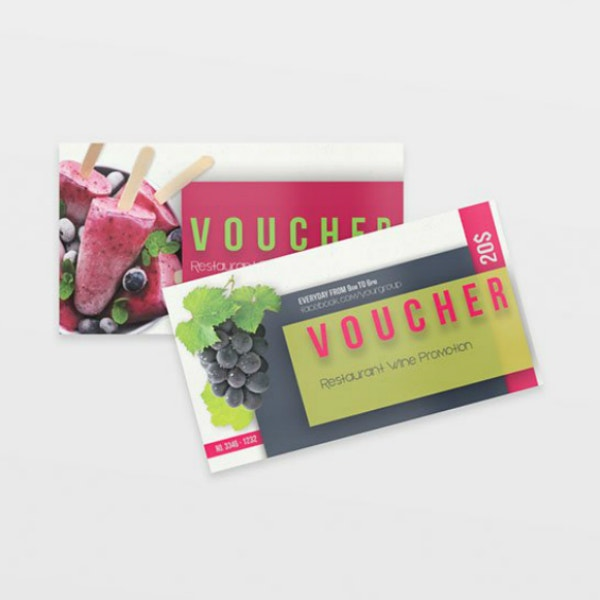 Multipurpose Restaurant Voucher Card Layout