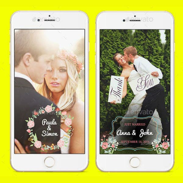 multipurpose wedding snapchat geofilter templates
