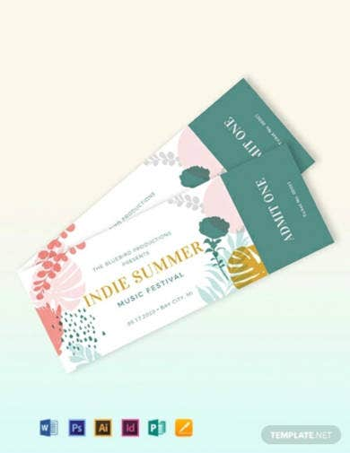 music-event-ticket-template