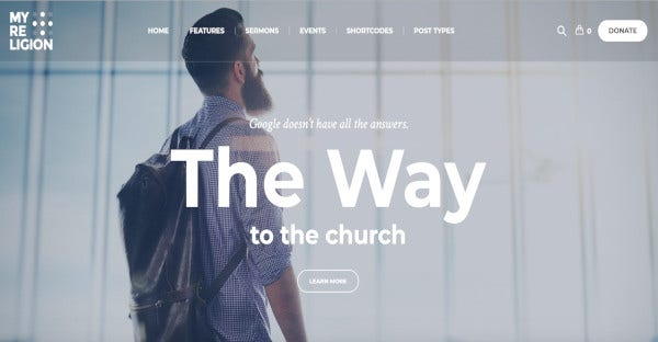 my religion custom admin panel wordpress theme