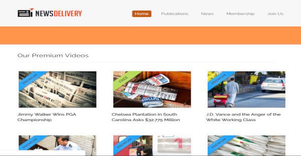 news delivery – jquery enhanced wordpress theme