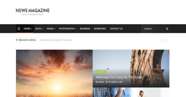 news magazine buddypress supported wordpress theme