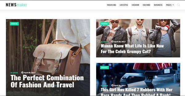 newsmaker elementor page builder wordpress theme