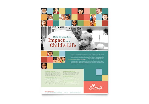 non profit association for children flyer