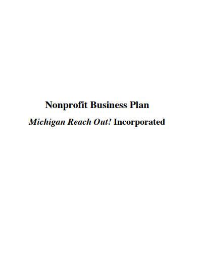 non profit buisness plan