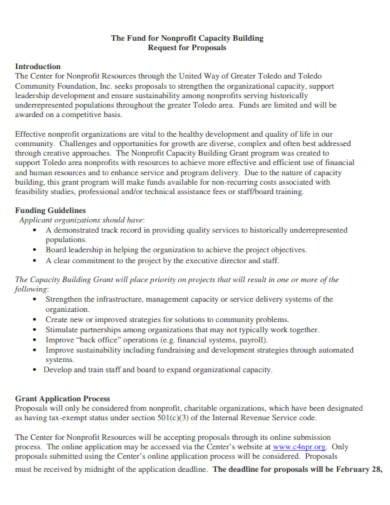 6+ Non-Profit Proposal Templates - PDF, Word, Pages, Google