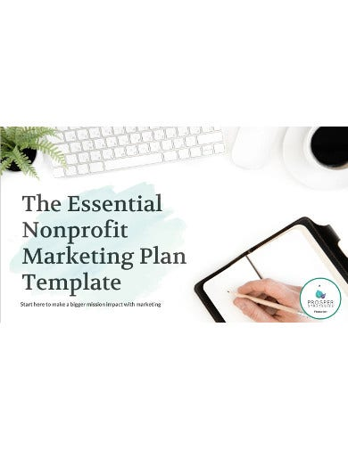 non profit marketing plan template