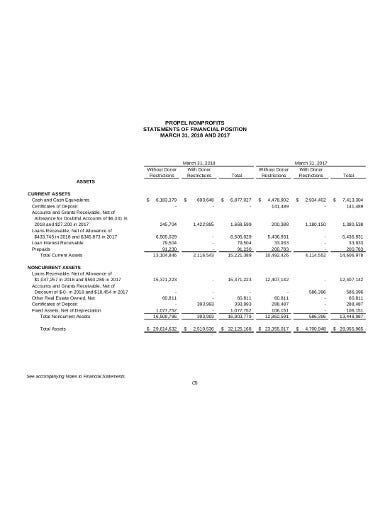 nonprofit financial statement sample