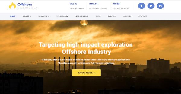 offshore wordpress customizer wordpress theme