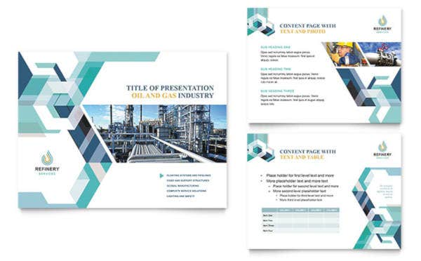 Oil & Gas Company Sales PowerPoint Template