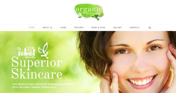 organic beauty – multi purpose wordpress theme
