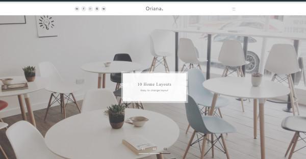 oriana redux framework wordpress theme