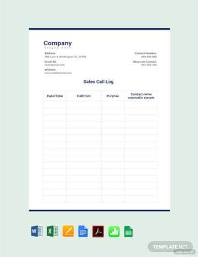 outside-sales-call-log-template