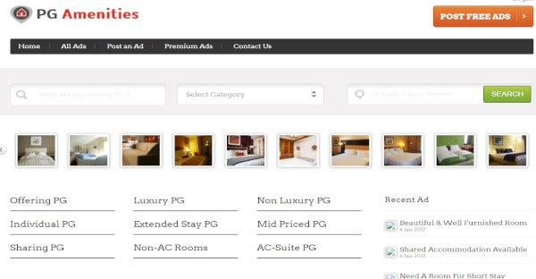 PG AMENITIES - Support all major browsers WordPress Theme