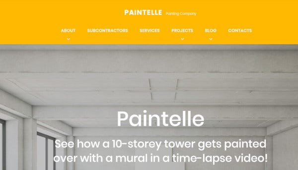 paintelle drag and drop page builder wordpress theme