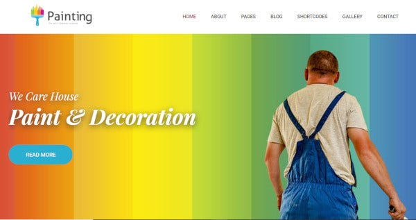 painting-user-friendly-wordpress-theme