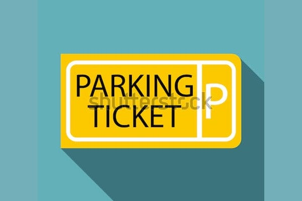 parking ticket sample