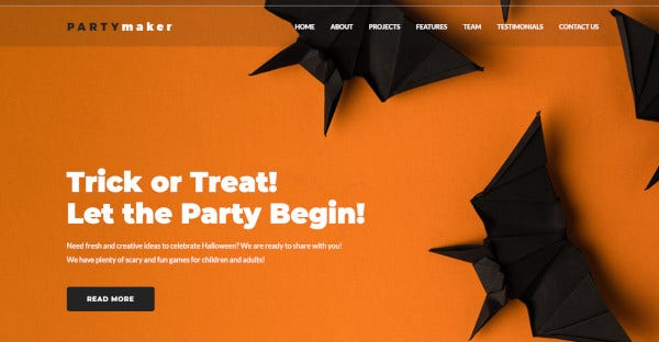 partymaker – user friendly wordpress theme
