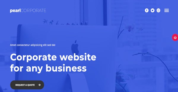 pearl business – visual composer wordpress theme